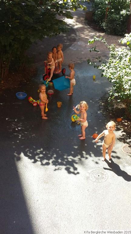 Die Wasserspiele können beginnen  KiTa Evangelische